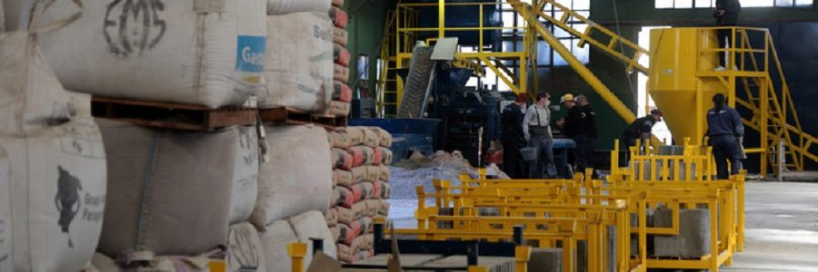 Los residuos de Buenos Aires se convierten en baldosas