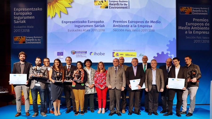 Iñaki Arriola entregó los premios europeos de medio ambiente a la empresa en el País Vasco