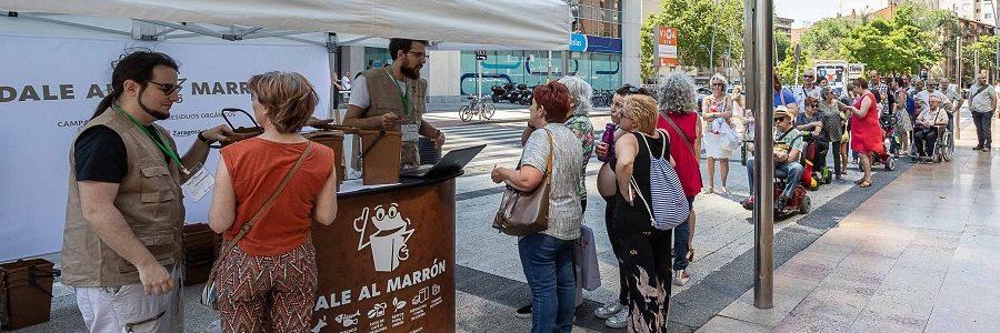 1.500 hogares de Zaragoza se suman a la recogida selectiva de materia orgánica