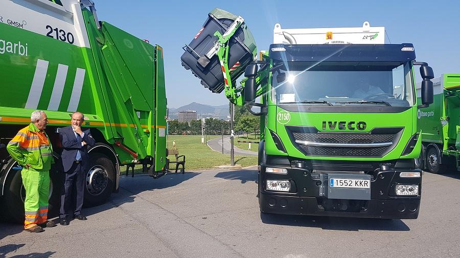 Nuevos camiones de recogida de residuos en Bilbao