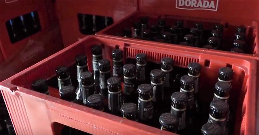 botellas de cerveza retornables