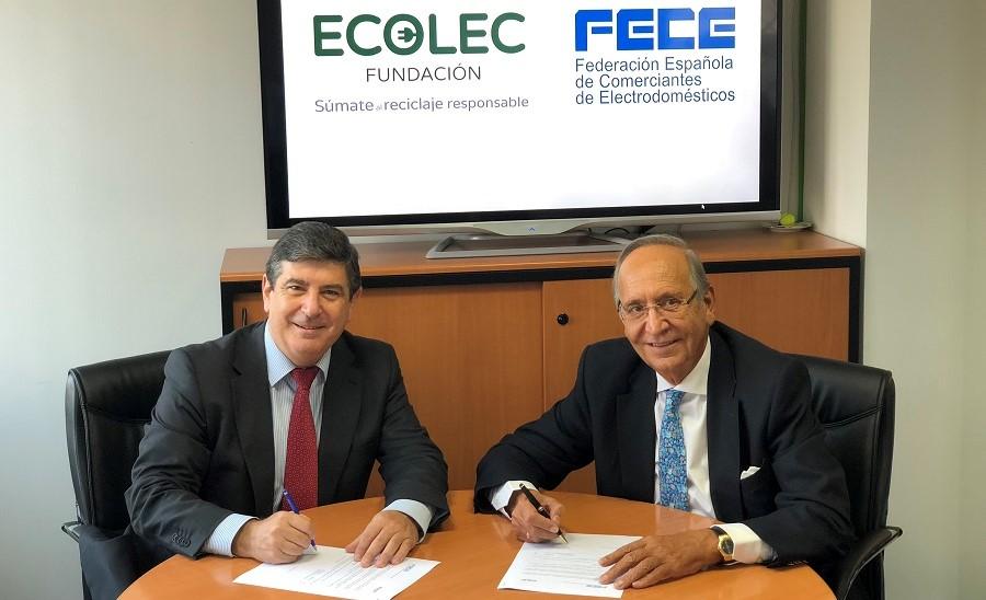 Firmado un protecolo entre Ecolec y FEcE para la gestión de residuos electrónicos de la venta online