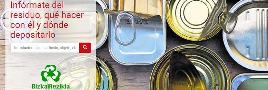 Bizkairezikla, una herramienta digital que resuelve todas las dudas sobre reciclaje doméstico