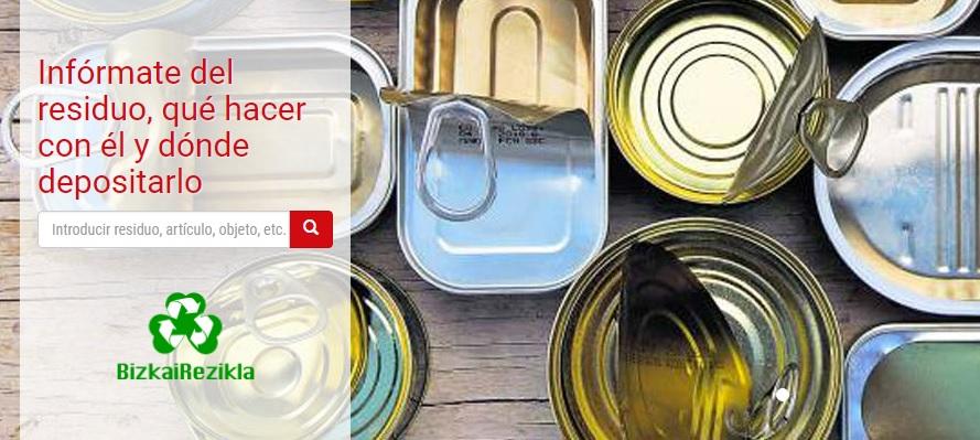 Bizkairezikla te ayuda a saber dónde depositar cada residuo