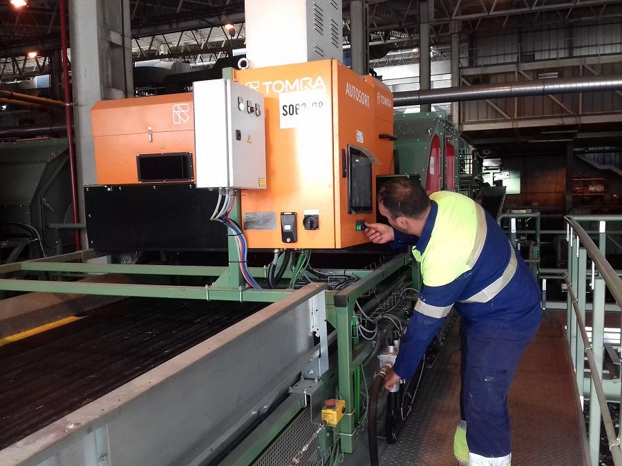 Automatización de la planta de residuos de Las Dehesas con tecnología TOMRA