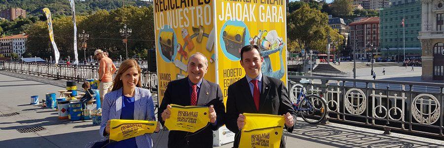 Llega a Bilbao la campaña «Reciclar es lo nuestro»