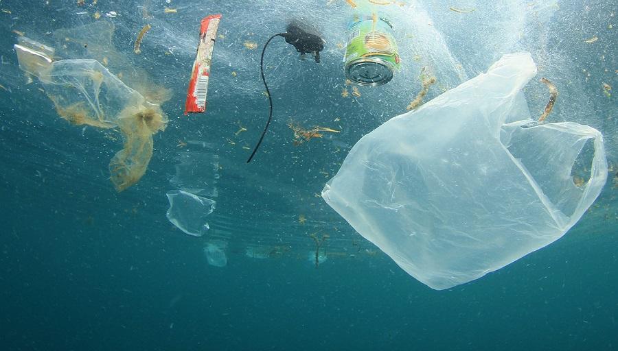Residuos plásticos en el mar.