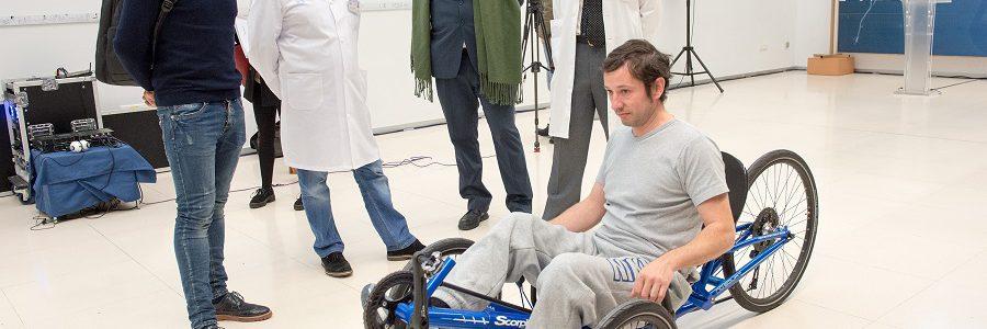 La campaña 'Recicla vidrio y pedalea' consigue una 'Handbike' para la Fundación del Hospital Nacional de Parapléjicos de Toledo