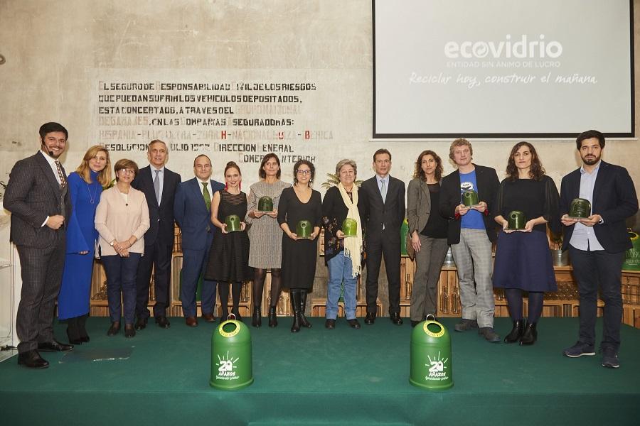 Celebrada la XIX edición de los premios Ecovidrio