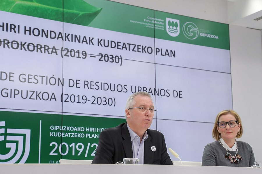 Aprobado el nuevo plan de residuos de Gipuzkoa