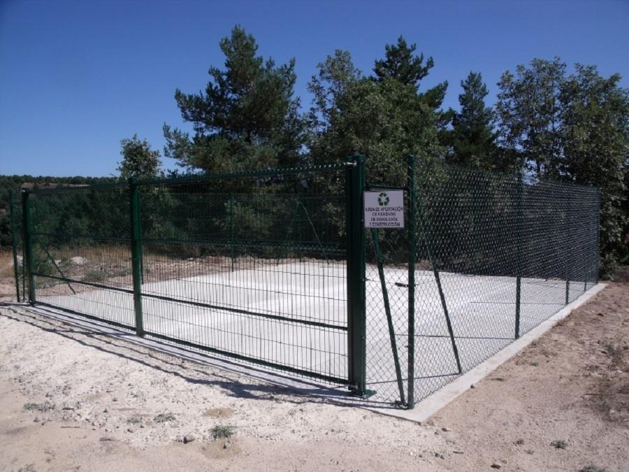 Área de aportación de residuos de construcción y demolición en la provincia de Soria
