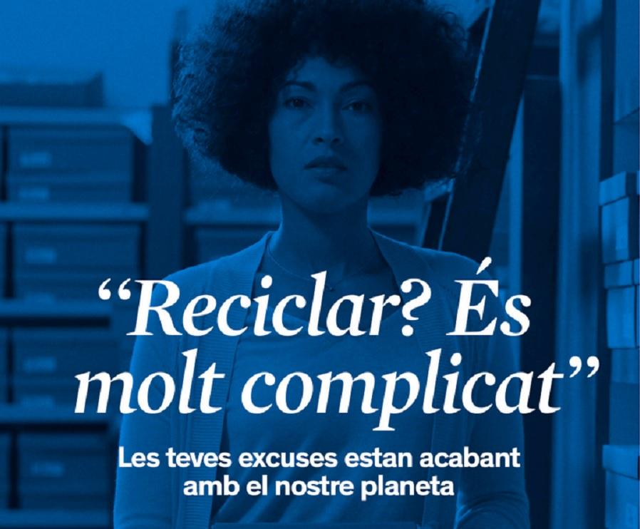 Una campaña en Cataluña rebate las excusas para no reciclar