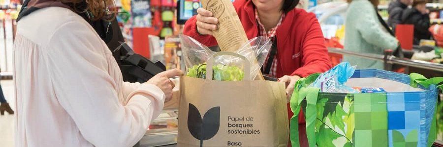 Eroski ya ofrece bolsas de papel como alternativa a las de plástico