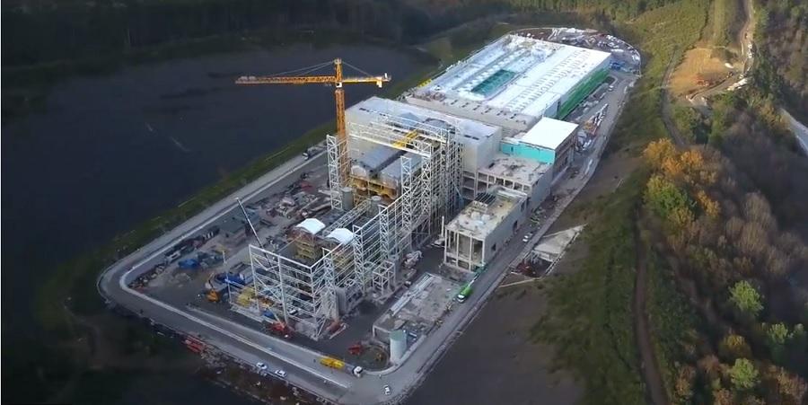Vista aérea del complejo medioambiental de Gipuzkoa