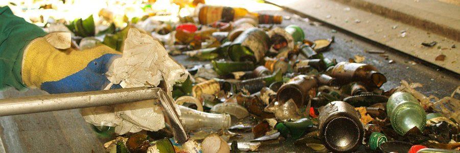 La tasa de reciclaje de vidrio en Europa es del 74%