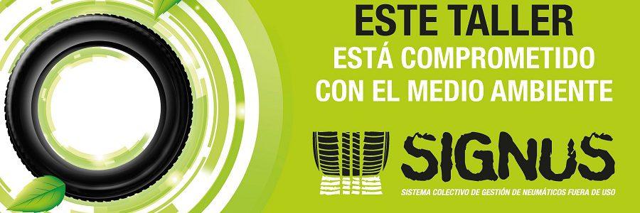 Signus distingue a los talleres comprometidos con la gestión de los neumáticos usados