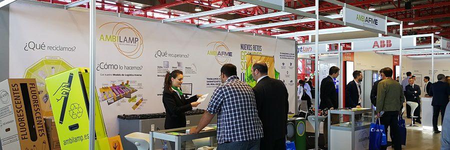 AMBILAMP y AMBIAFME expusieron en EFICAM las soluciones para el reciclaje de residuos de iluminación y material eléctrico