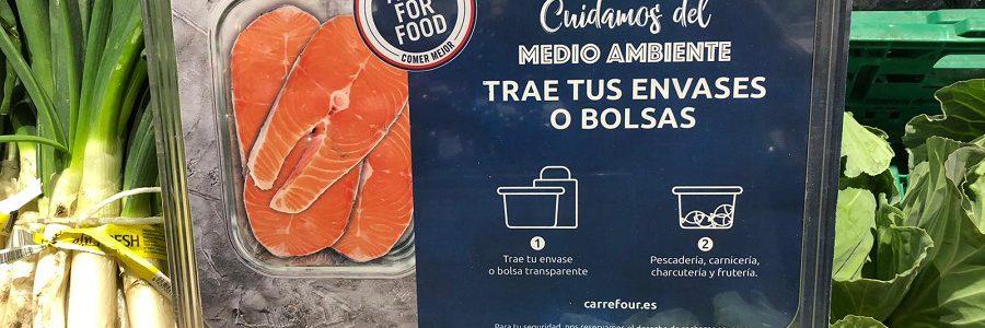 Los clientes de Carrefour podrán usar sus propios envases para reducir el uso de plástico