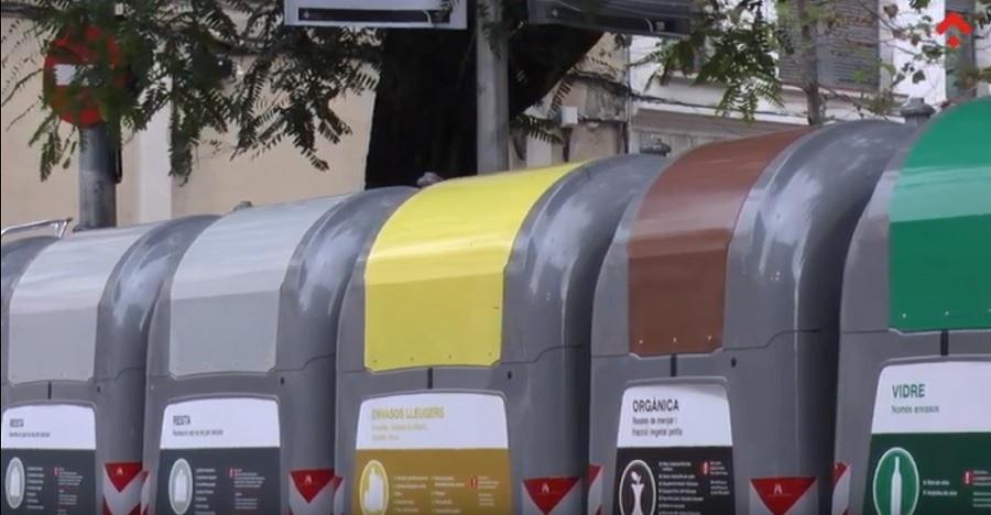 Contenedores de residuos en el AMB