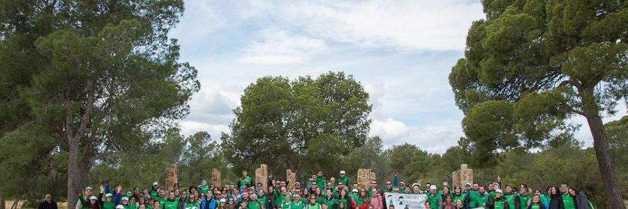 Trabajadores del sector de los plásticos recogen residuos en un parque natural de Valencia
