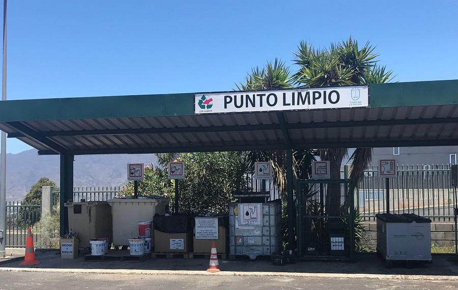 Crece la recogida de residuos peligrosos en los puntos limpios de La Palma
