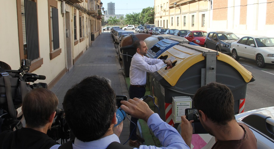 Contenedores inteligentes en el marco de ReciPlàstic en Valencia