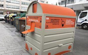 Contenedor de aceite vegetal en Vitoria-Gasteiz