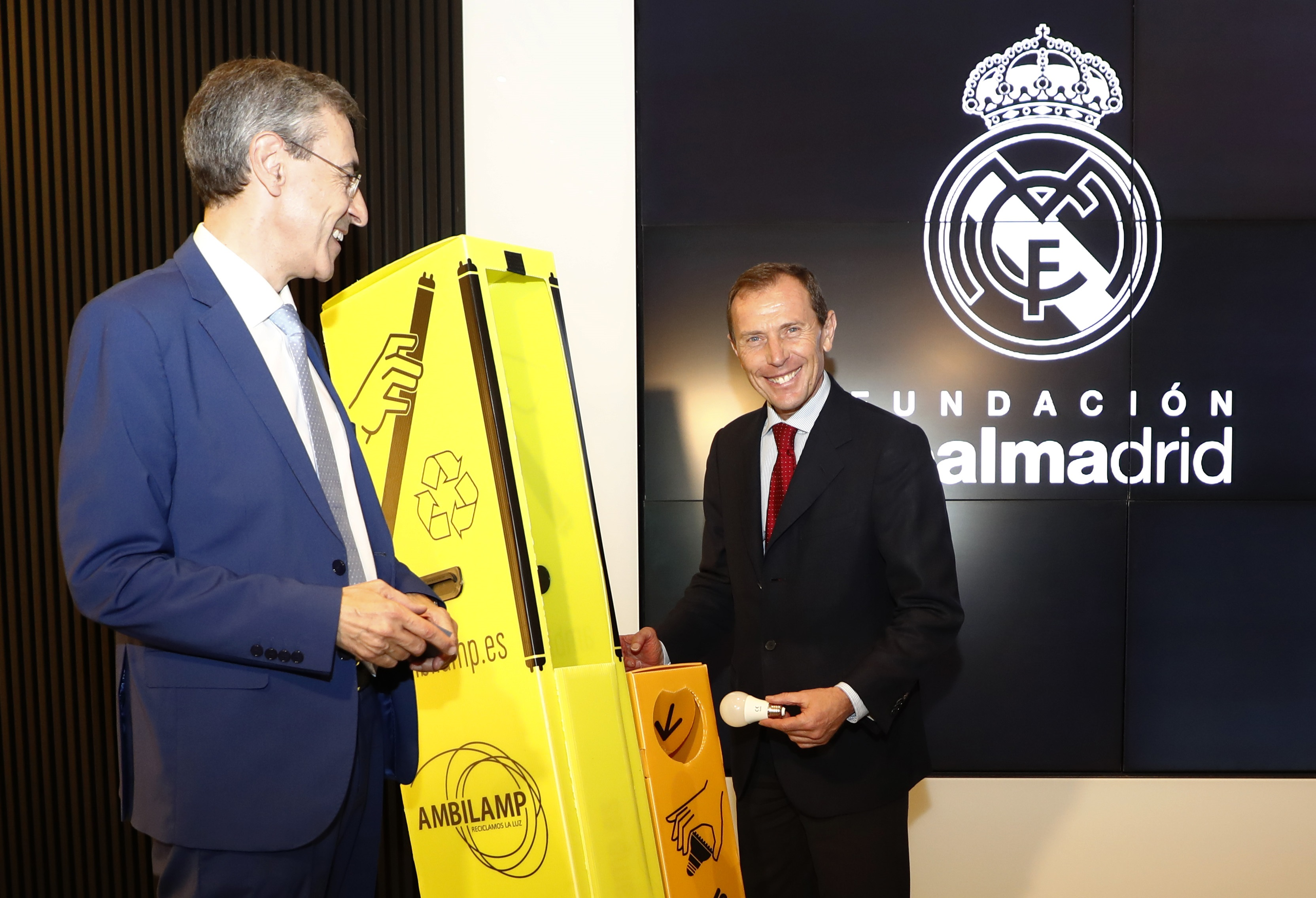 Acuerdo de colaboración entre Ambilamp y Fundación Real Madrid