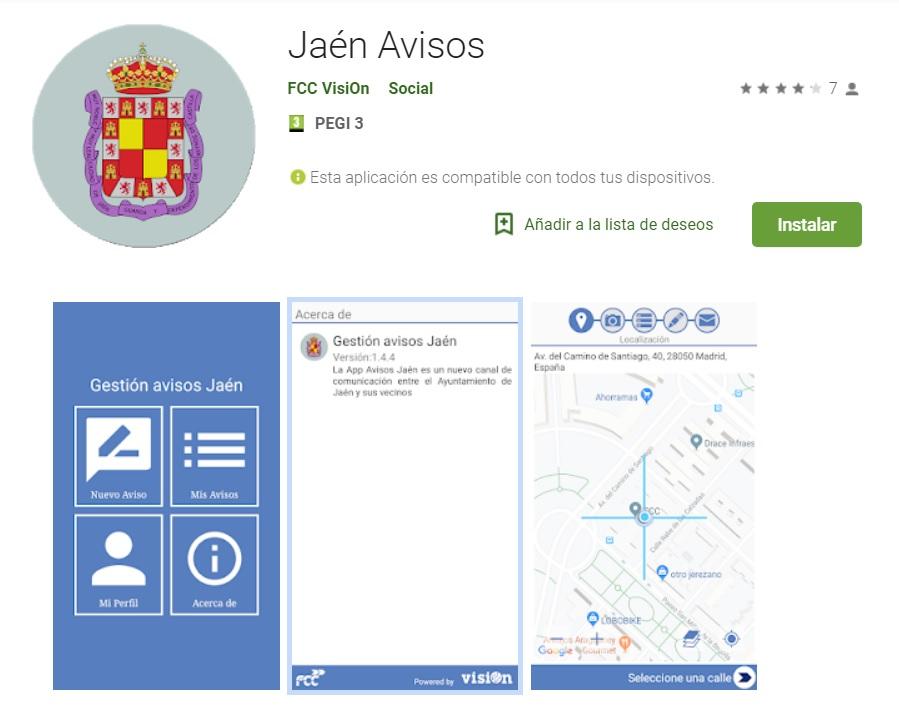 Nueva app de incidencias del servicio de aseo urbano en Jaén