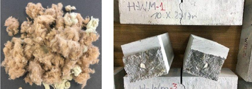 Desarrollan nuevos morteros para la construcción con lanas minerales recicladas