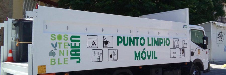 Jaén amplía el servicio del punto limpio móvil