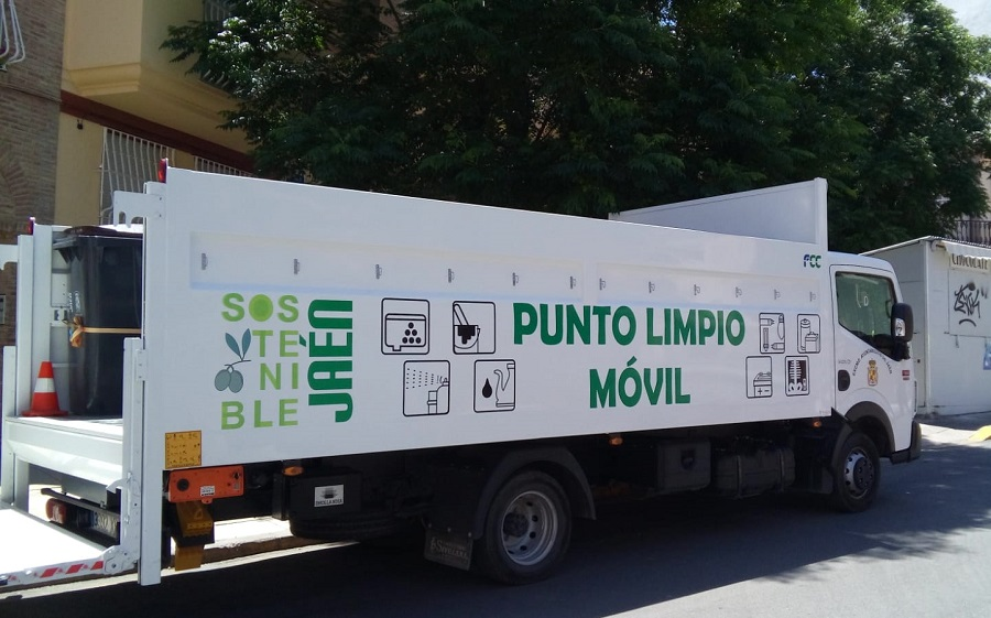 Punto limpio móvil de Jaén