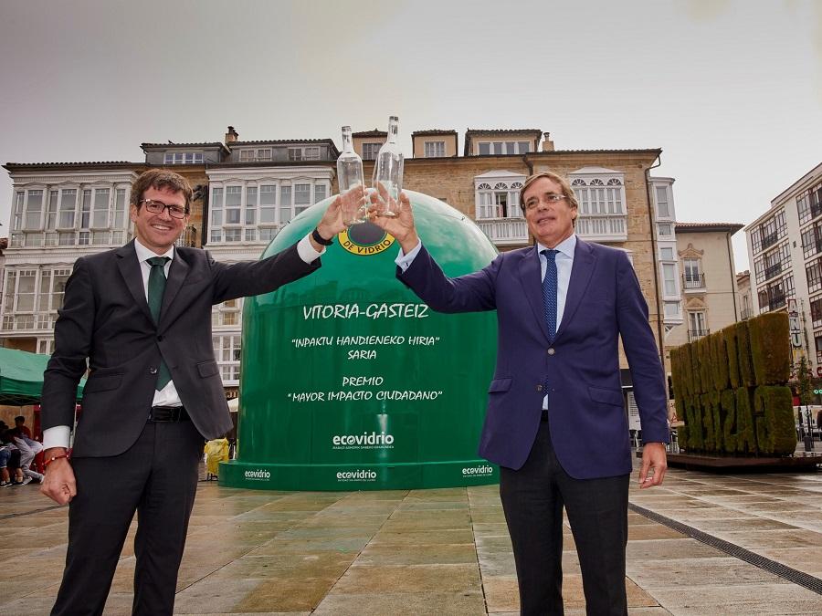 Premio de Ecovidrio a Vitoria-Gasteiz por su compromiso con la sostenibilidad