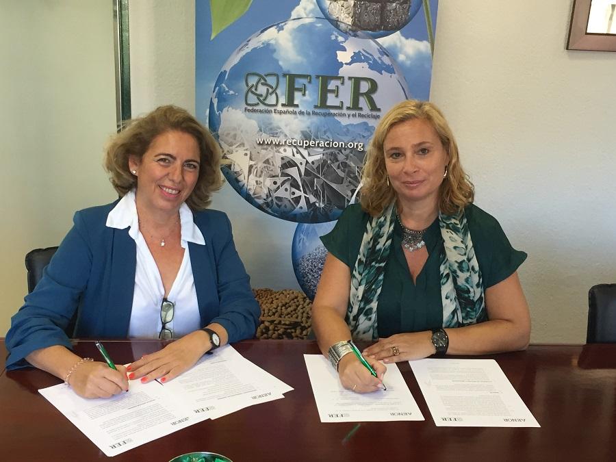 Acuerdo entre FER y AENOR para fomentar la formación en el sector del reciclaje