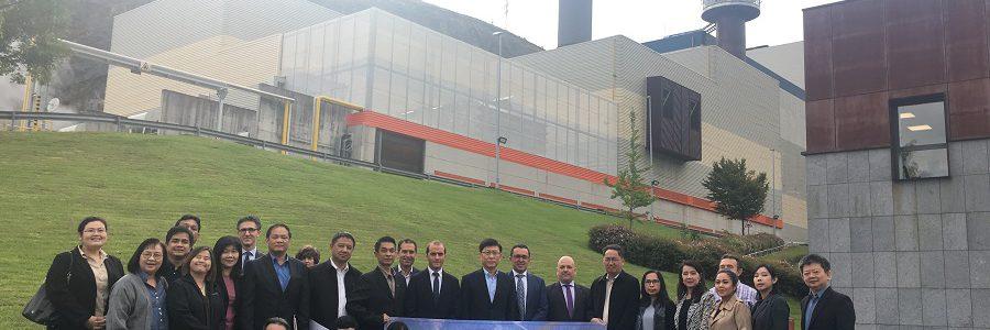 Directivos de la Agencia Tailandesa de Generación Eléctrica visitan la incineradora de Zabalgarbi en Bilbao