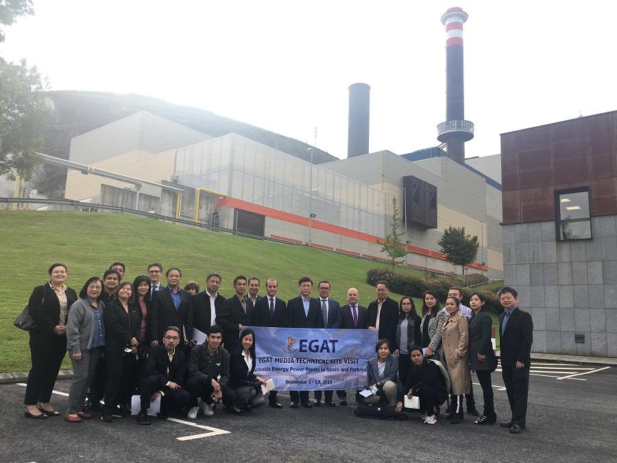 Visita de la Agencia de Generación Eléctrica de Tailandia a Zabalgarbi