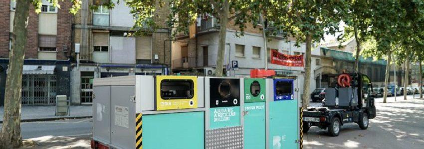 Barcelona ensaya con éxito la recogida selectiva de residuos con contenedores portátiles