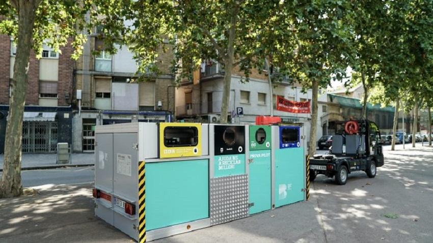 contenedores portátiles de recogida selectiva en Barcelona