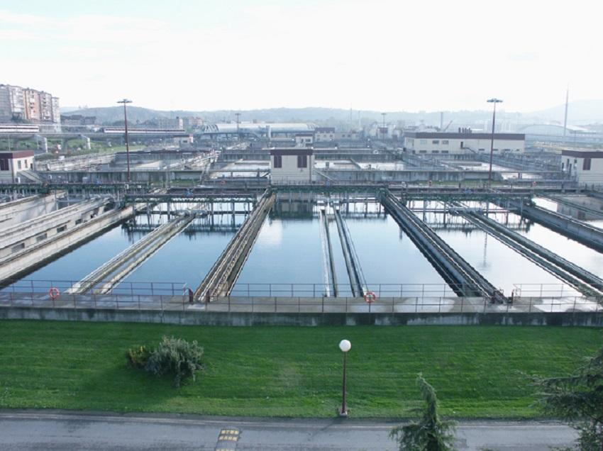 Depuradora de Sestao, gestionada por el Consorcio de Aguas de Bilbao