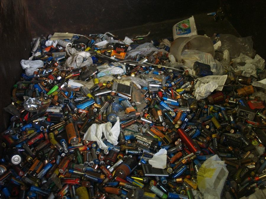 Pilas y baterías usadas