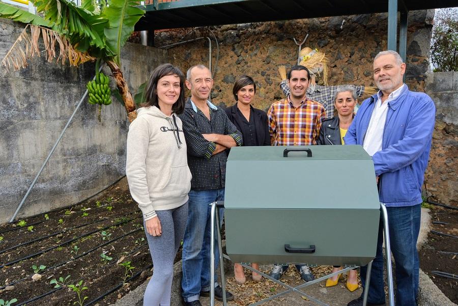 Compostaje de residuos en colegios de La Palma