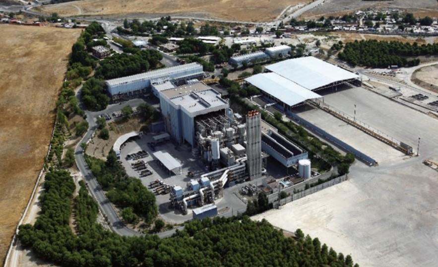 Vista aérea de las planta de valorización energética de Las Lomas, en el parque de Valdemingómez