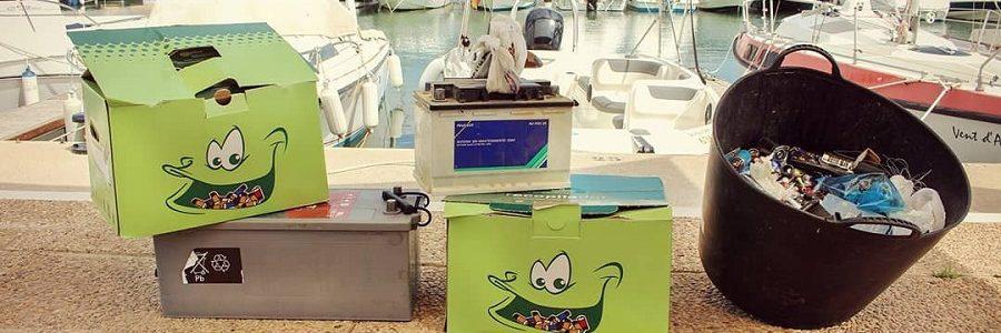 Los clubes y escuelas náuticas recuperaron el pasado verano dos toneladas de pilas para su reciclaje
