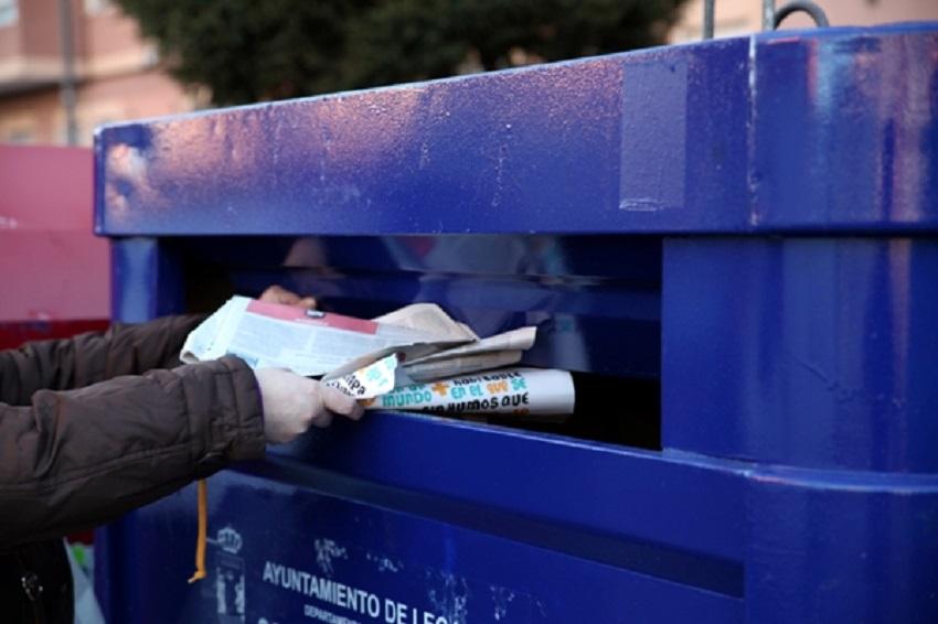 Crece la recogida municipal de papel y cartón en 2018