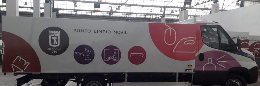 Madrid renueva los puntos limpios móviles con camiones ecológicos
