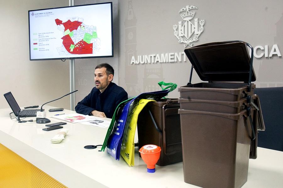 La recogida de materia orgánica se extiende en Valencia