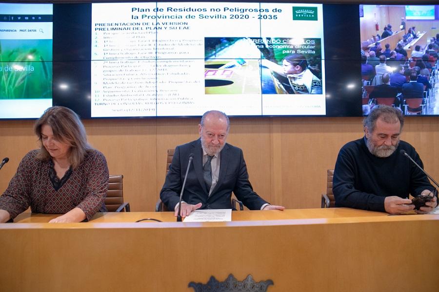 Presentación del plan provincial de residuos no peligrosos de Sevilla