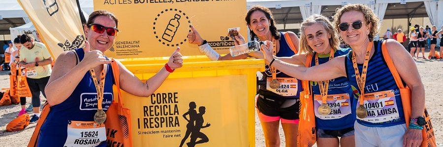 El Medio Maratón de Valencia recuperó para su reciclaje el 99,9% de los envases usados durante la prueba