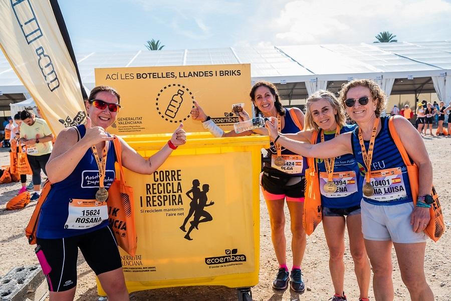 Reciclaje en el Medio Maratón de Valencia