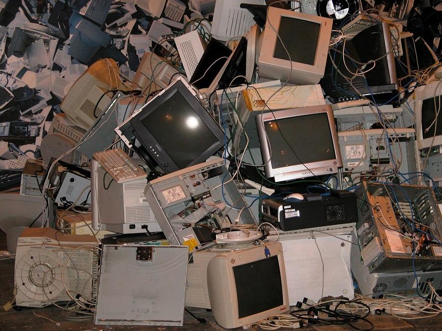 residuos electrónicos para su reciclaje